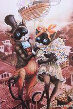 Auf dem Dach...Katze Gezählter Kreuzstich Packung Stickbild Set Aida Stramin 82