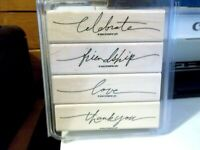 Stampin Up Wonderful Words Set of 4 Stamps New In Original Box