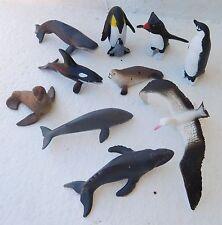 New ANTARCTICA set 10 small figurines play / cake decorations Safari toob toys