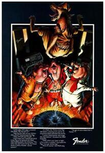 "Fender Guitars * POSTER * 24"" Promo ad  - 3 Little Pigs 1975 Music Store Strat"