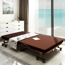 Portable Single Folding Bed Guest rollaway cot with Mattress for Sale
