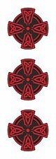 2x Celta Cruz Roja Vinilo calcomanía de pegatinas religiosa coche