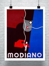 Modiano Vintage Art Deco Tobacco Cigarette Poster Canvas Giclee 24x30 in.