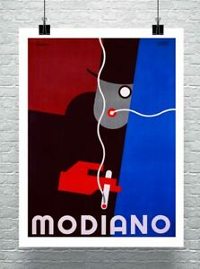 Modiano Vintage Art Deco Tobacco Cigarette Poster Canvas Giclee 24x30 in.