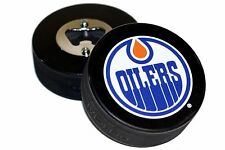 Edmonton Oilers Basic Logo NHL Hockey Puck Bottle Opener