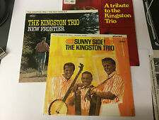 KINGSTON TRIO  Sunny Side  / TRIBUTE / NEW FRONTIER 3 X LP BUNDLE VINYL