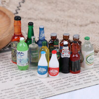 5x 1:12 Dollhouse Miniature Drinks Bottles Model Dolls Kitchen Accessories YK
