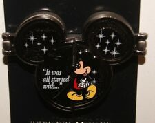 Disney Parks It All Started With A Mouse Mickey Hinged Pin New On Card