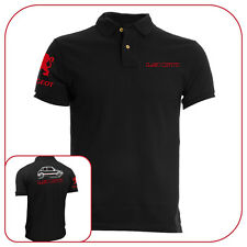 T-SHIRT POLO BLACK PEUGEOT 205 1.9 GTI FRANCE CAR OLD MOTOR FASHION
