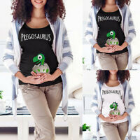 Women Maternity Easter Funny Cartoon T Shirt Short Sleeve Tops Pregnancy Clothes