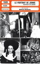 FICHE CINEMA : LE PORTRAIT DE JENNIE - Jones,Cotten,Gish,Dieterle 1949