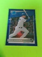 2020 Donruss Rated Rookie Blue Nico Hoerner #38 Chicago Cubs