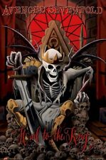 AVENGED SEVENFOLD POSTER ~ HAIL TO THE KING 24x36 Music A7X Death Skull
