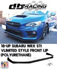 V-Limited Style Front Lip (Urethane) Fits 18-Up Subaru WRX STi Front Bumper Lip