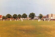 Worthing West Sussex Postcard, 1990 Cricket Match on Broadwater Green 10O