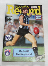 1991 AFL Football Record St Kilda Saints v Collingwood Magpies Vol.80 No.4