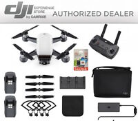DJI Spark Fly More Combo enhanced bundle Drone White includes 64GB memory Card