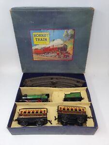HORNBY M1 PASSENGER TRAIN SET (BOXED). CLOCKWORK.