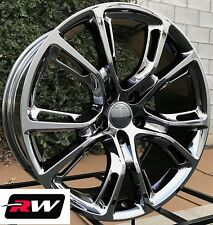 "Jeep Grand Cherokee Wheels 20"" inch Black Chrome 20x9"" Rims 5x5.00"" 5x127 +34"