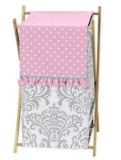 Kids Childrens Clothes Laundry Hamper For Sweet Jojo Skylar Damask Bedding Sets