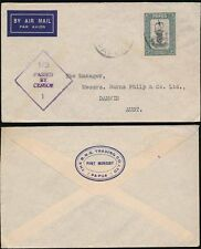 PAPUA WW2 CENSORED AIRMAIL to DARWIN AUSTRALIA...BNG TRADING CO ENVELOPE