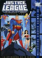 Justice League Unlimited - The Complete Second Season DVD, 2007 USED  FREE S/H