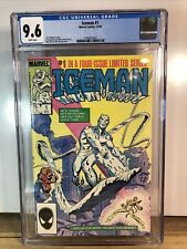 ICEMAN Limited Series #1 White Pages X-MEN 1984 CGC NM+ 9.6 3799013007