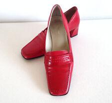 Mocassins Vintage Rouge Cerise Pointure 36