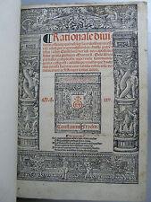 Rational divinorum officium (...) Constantin Fradin Antoine Blanchard Lyon 1525
