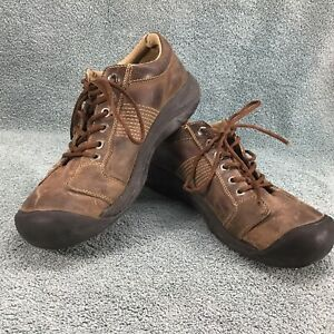 KEEN Austin Casual Leather Oxford Shoes Brown Lace Up 1321 POSL Men's Size 10.5