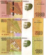 "ANGOLA Set of 100, 500 and 1000 Kwanzas, 2012 ""2018""  - UNC, New signature"
