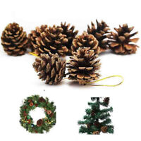 6/12Pcs Christmas Pine Cone Decoration Baubles Xmas Tree Party Hanging Ornament