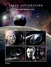 Gambia- Rossica 2014 Space Exploration Stamp- Sheetlet of 4 x D50