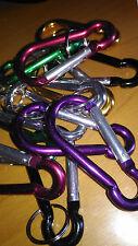 Un moschettone 8 cms alluminio colori, portachiavi chiavi colore: casuale