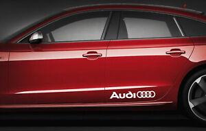 2 x AUDI LOGO RINGS CAR VINYL STICKERS / DECALS