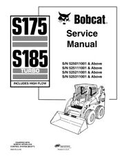 New Bobcat S175 S185 Turbo, HighFlow, Updated 2009 Edition Service Repair Manual