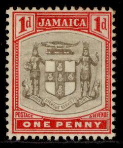 JAMAICA EDVII SG39, 1d grey & carmine, LH MINT. Cat £18. WMK MULT