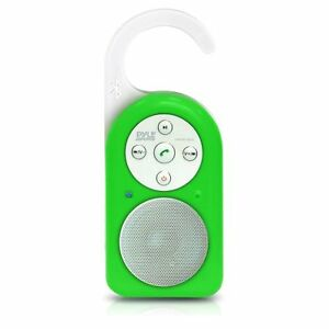 Pyle PWPBT10GN Waterproof Shower Speaker with Built-In Mic for Call Answering