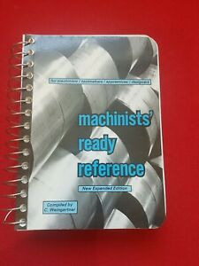 Machinists' Ready Reference Book 7th Edition 1989