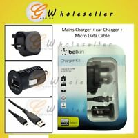 Belkin Charger Kit : USB Car Charger + UK Mains Wall Charger Power Adaptor + ...