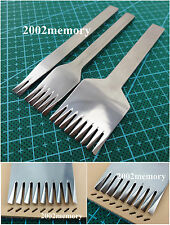 3mm European Style leather Stitching Lacing Punch Chisel Tool Set 2+5+9 prong