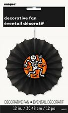 30cm Skeleton and Bats Halloween Tissue Paper Decorative Fan