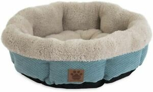 Precision Pet Snoozzy Mod Chic 12 Inch Round Pet Bed Teal