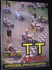 Program Dutch TT Assen 27 juni 1981 (TTC)