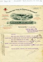 Dépt 66 & Paris IX ème - Banyuls sur Mer - Belle Entête Célèbre Bartissol - 1921