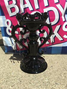 New Bath & Body Works Halloween Gothic Black Bats Candelabra Candle Holder