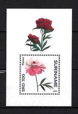 Surinam 2011 fleurs pivoines bloc neuf ** 1er choix