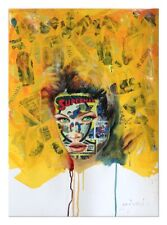 Pop Art, Contemporary Art, Portrait, Oil, Acrylic & Collage on Paper, Comics
