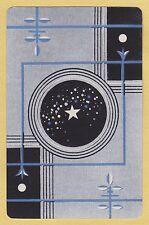 1 Single VINTAGE Swap/Playing Card US LISTED DESIGN 'KEMPTON KE-8-1' Art Deco