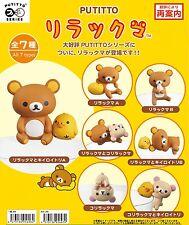 Kitan Club Putitto Series San-X Rilakkuma 7 Pcs Complete Set Free Shipping